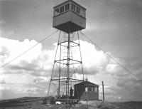 Fire tower, Schoodic Mountain, Franklin, ca. 1920