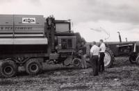 Birds Eye mobil combine, Aroostook County, ca. 1960