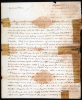 Letter about Alonzo shipwreck, 1820