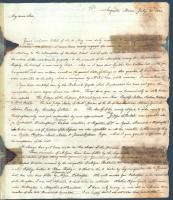 Letter concerning organization of new State of Maine, 1820