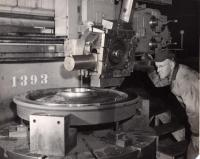 Turning a Freight Car Replacement Wheel, Derby, 1965