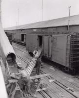 Unloading potatoes, ca. 1959
