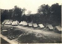 Coastal Artillery Corps camp, Great Diamond Island, 1909