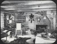 Log cabin, Maine Woods, ca. 1900