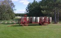 Taber wagon with potato barrels, Caribou