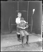 Harold and Fred Coffin, Bangor, 1901