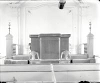 Pulpit, Bradley Meeting House, Portland, ca. 1900