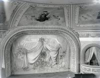 Cumston Hall Auditorium Stage and Curtain, Monmouth, ca. 1900