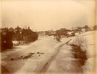 Ice on the Meduxnekeag River down from Houlton, c. 1895