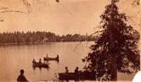Boats on Nickerson Lake, ca. 1895