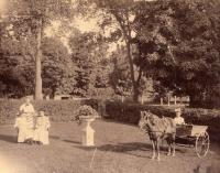 Richards' yard, Houlton, ca. 1905