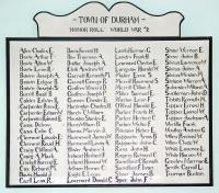 Durham's World War II Honor Roll, ca. 1946