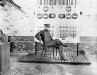 Man at the Goodall Mill Controls