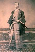 Charles Appleton Longfellow in formal Japanese attire.