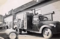Delivery of potatoes to warehouse, Caribou, ca. 1942