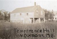 Temperance Hall, North Dixmont, ca. 1900