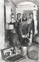 Pouring out contraband liquor, Bath, ca. 1920