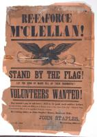 Civil War Recruiting Poster, Bancroft Mills, 1862