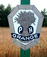 Road-side Grange sign, Monticello, 2004