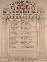 Houlton Grange World War I Honor Roll, ca. 1918