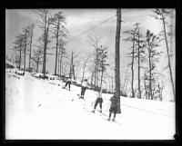 Up the rope tow, Fryeburg, 1936