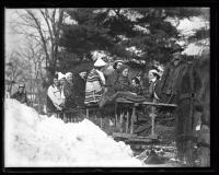 On the sledge, Fryeburg, 1936
