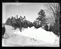 Group of skiers, Fryeburg, 1936