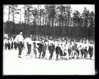 Skiers ready, Fryeburg, 1936
