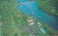 Aerial view, Eastern Maine General Hospital, Penobscot River, ca. 1951