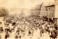 Fourth of July in Market Square, Houlton, ca. 1898