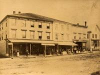 Corner of Main and Water Streets, Houlton, ca. 1870