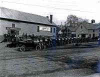 Model T Fords, Skowhegan, ca. 1920