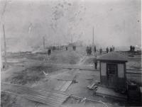 Main Street of Lisbon Falls Burning, 1901