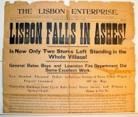 'Lisbon Enterprise' fire article, 1901
