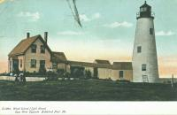 Postcard Wood Island Lighthouse, Biddeford  c 1902