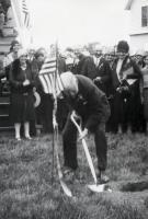 Groundbreaking for the Knox Memorial, 1929