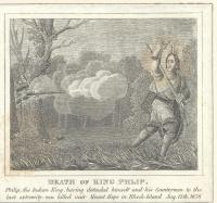 Death of King Phillip engraving
