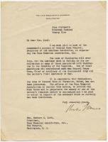 Letter from Charles G. Dawes, Vice President, 1925