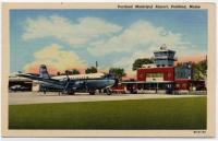 Northeast airplane at Portland Municipal Airport, Portland, ca. 1940