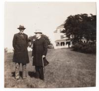 Franklin Benjamin Sanborn and Charles Malloy at Green Acre, Eliot, ca. 1900