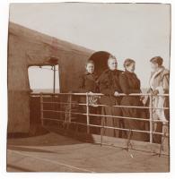 Sarah Jane Farmer and travel companions on the S.S. Furst Bismark, 1900