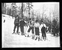 Skiers on Jockey Cap in Fryeburg,  ca. 1936