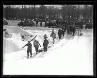 Skiers at Jockey Cap, Fryeburg, 1936