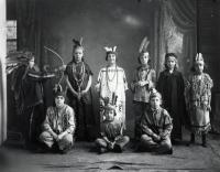 Nine Children in Costumes, Sanford, ca 1900