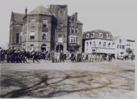 Soldiers, Maine Street, Brunswick, ca. 1917