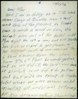 Walter Hustus letter from basic training, 1942