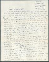 Walter Hustus letter concerning army training, 1943