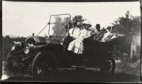 Automobile touring, Fryeburg, ca. 1900
