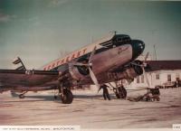Northeast Airlines DC-3, Presque Isle, ca. 1945
