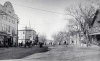 Looking North from the Square, Main Street, Sanford, ca 1900